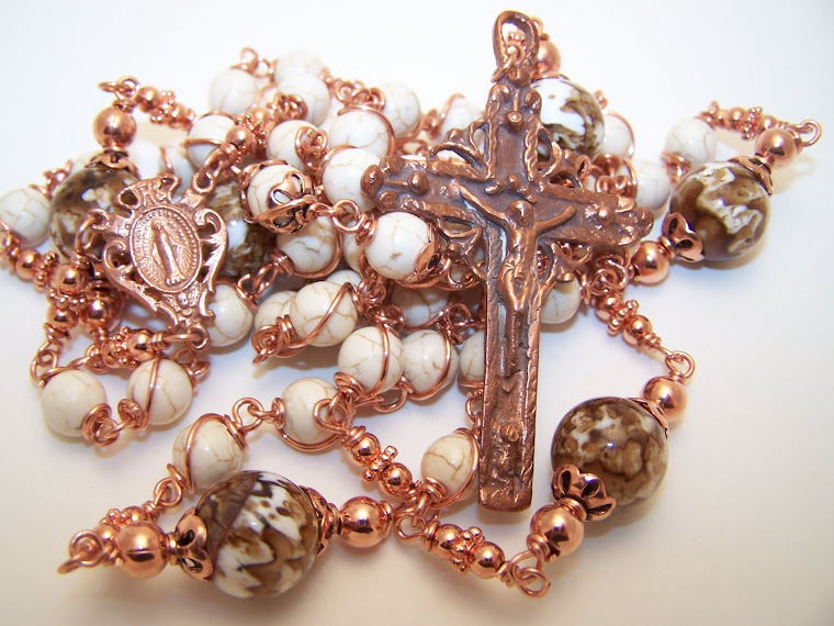 Solid Copper Collection! Rosary Of The Miraculous Medal
