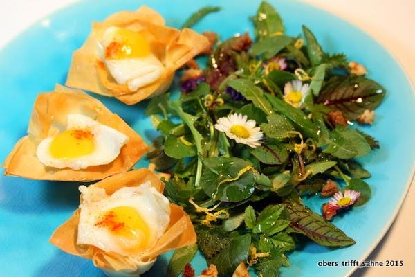 Wildkräuter zu Ostern als Salat