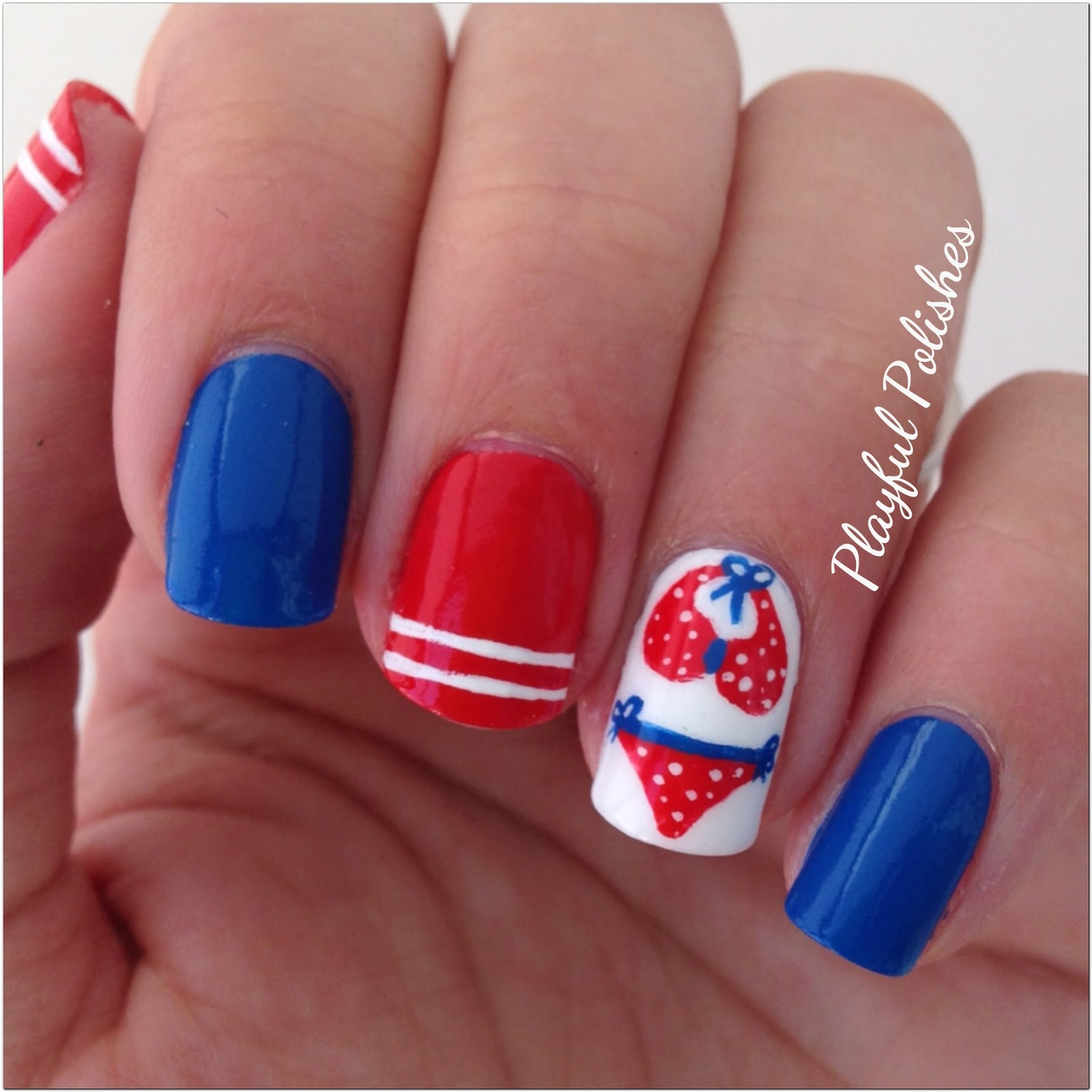 Playful Polishes: 4TH OF JULY NAIL ART
