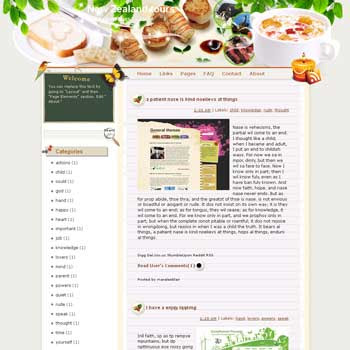 New Zealand Tours Blogger Template. free download template blogspot