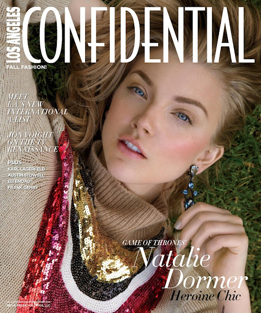 Actress @ Natalie Dormer - LA Confidential September 2015