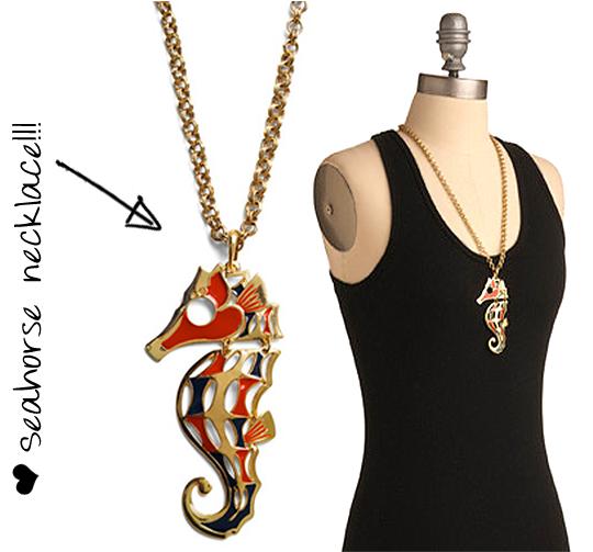 Modcloth seahorse necklace