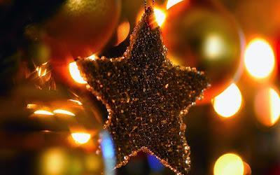 Papel de parede estrela de natal para pc 3d hd Beautiful christmas star desktop wallpaper