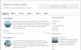 Simple Clean White Template for Blogger