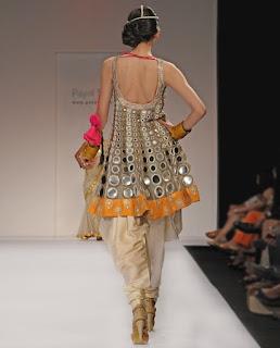 Mirror work short kurta by Payal Singhal