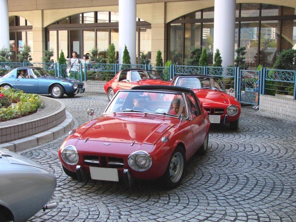 Toyota Sports 800, przód, reflektory, roadster, boxer, stary japoński samochód