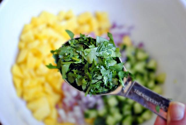 Mango Cucumber Salsa l SimplyScratch.com