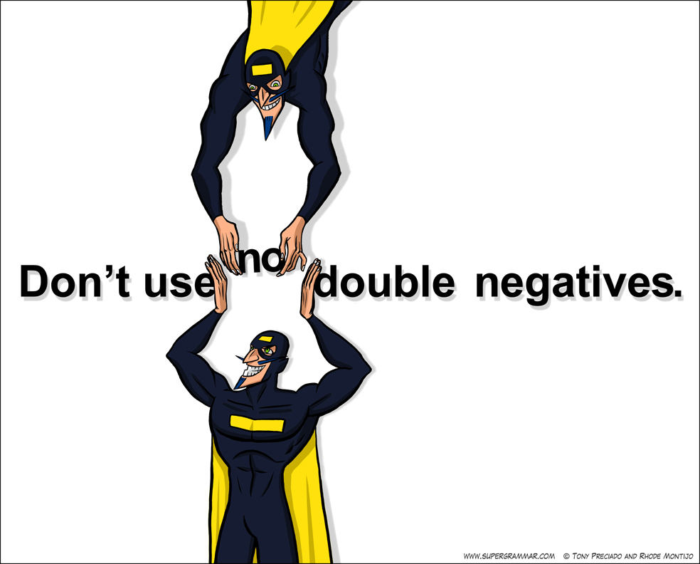 Super Grammar Double Negative – Double Negatives Worksheet