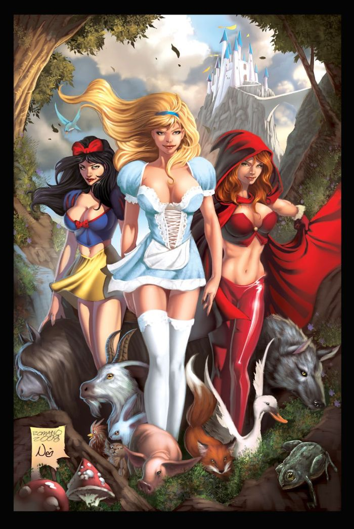 cinderella, snow white and litte red riding hood sexy pics