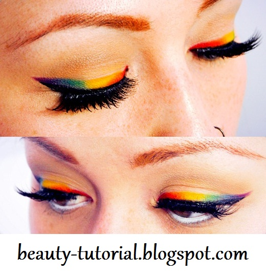 how to do a rainbow eyeliner tutorial
