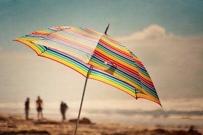 Parasol sur la plage