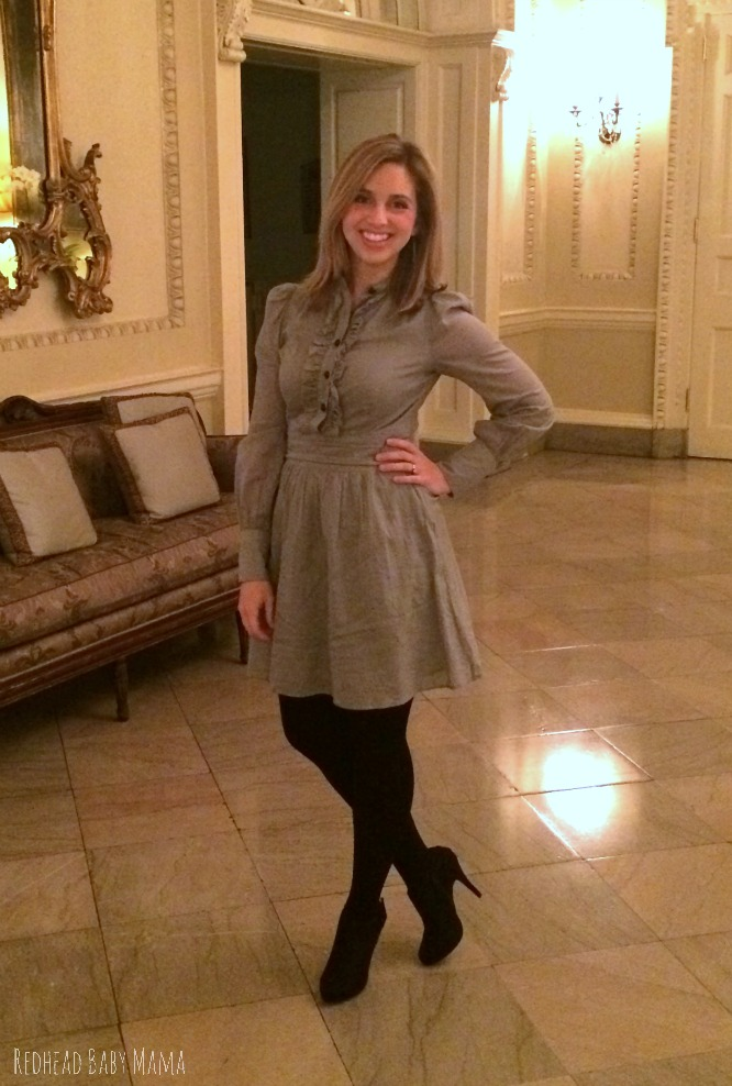 My favorite date night look with suede booties from Rack Room