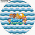 Bubble Guppies Free Printable Candy Bar Labels.