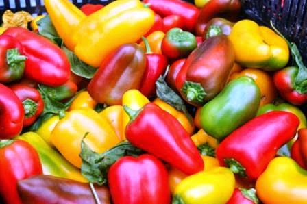 image of fresh capsicums at the markets