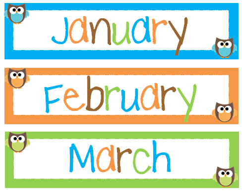 Polka Dot Months Of The Year Printables Teachery tidbits: manic and ...