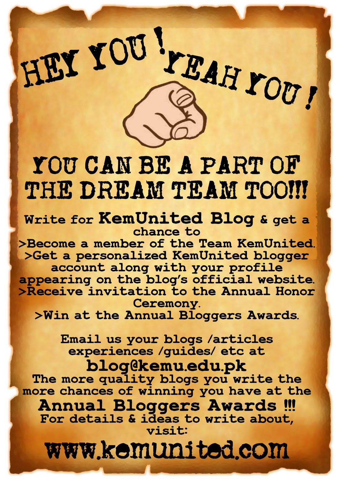 Write for us ! Join the team !