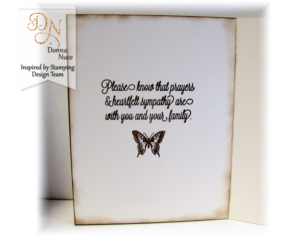 Inspired By Stamping, Everyday Greetings, Butterfly  Wings, Sympathy card inside,