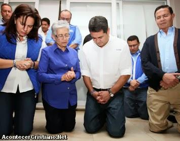 Juan Orlando Hernández agradece a Dios tras ganar elecciones en Honduras