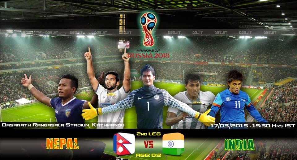 Nepal host India as they look to overturn the 2 goal deficit