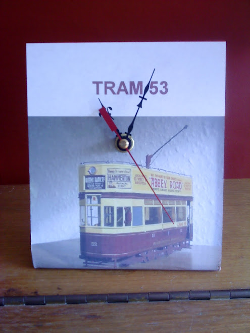 The prototype of the 53 clock, let your favourite tram tell you the time!