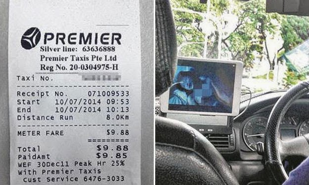 Pemandu tonton video lucah dalam teksi