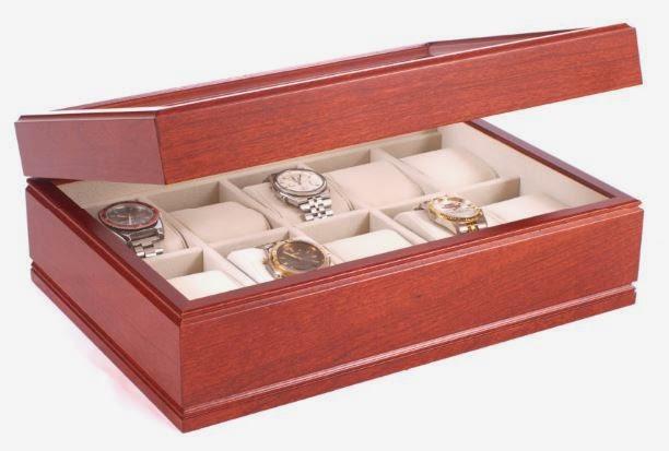solid cherry watch box
