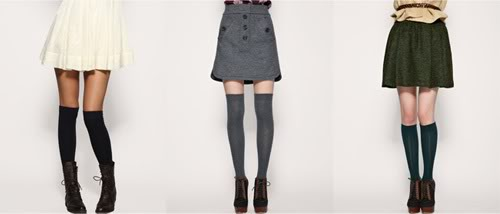 fashion how to wear knee high socks alone or