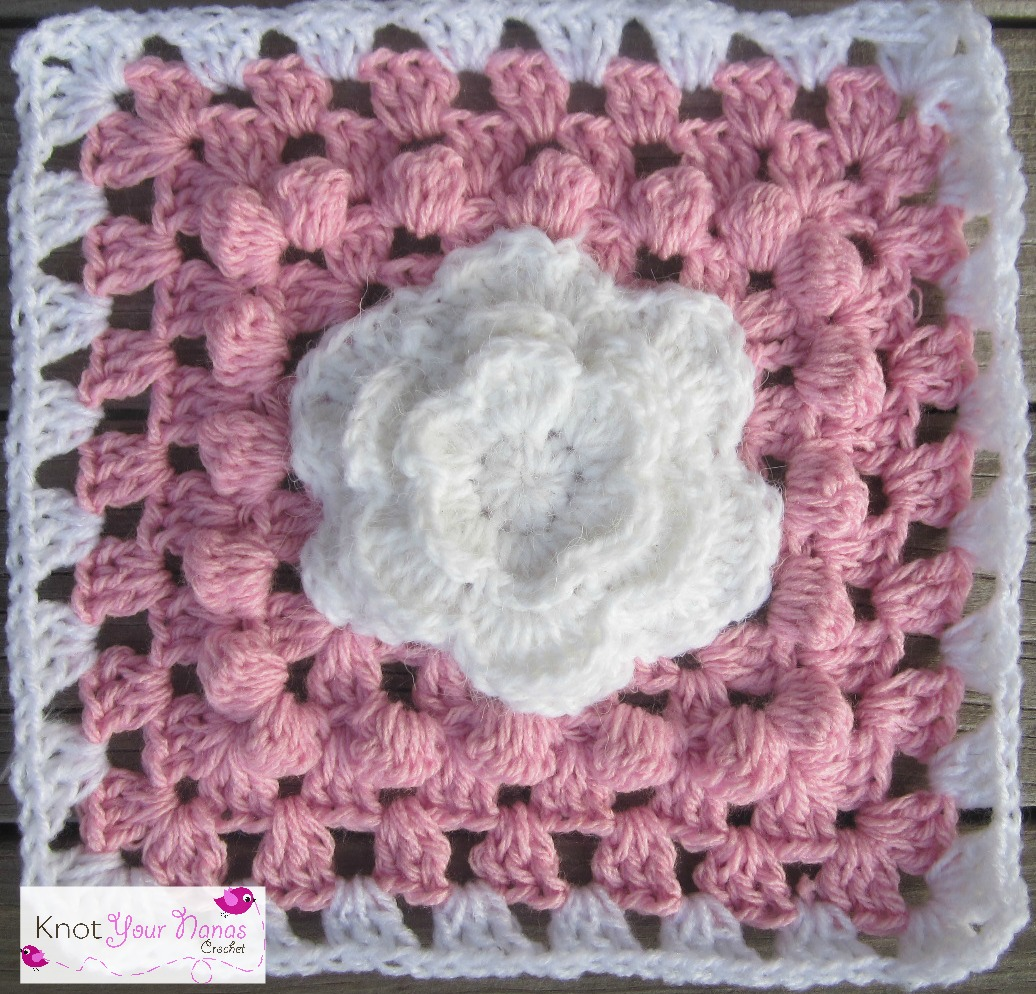 Knot Your Nanas Crochet: Blooming Roses Granny Square
