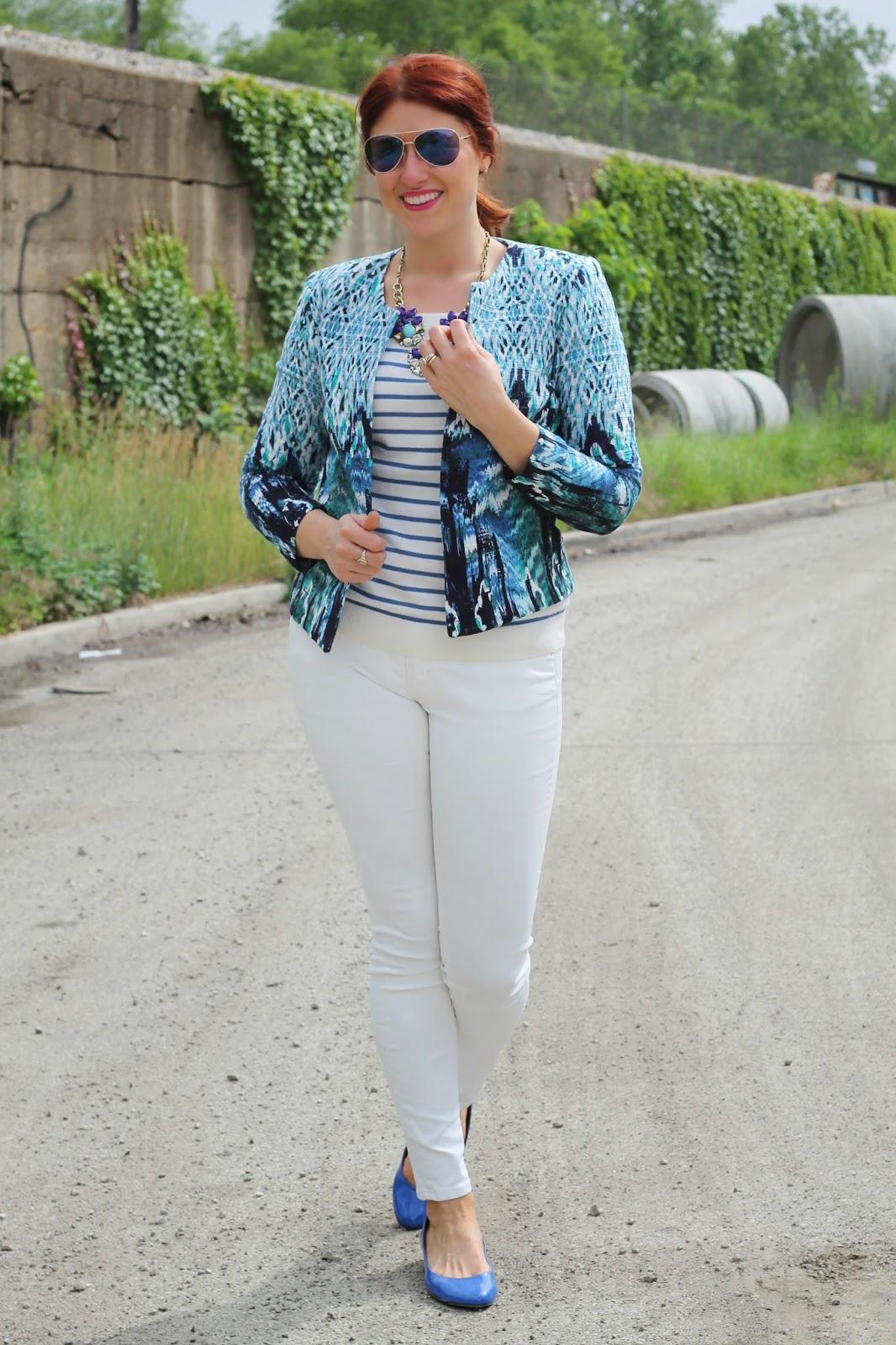 H&M, Jacket, Blue
