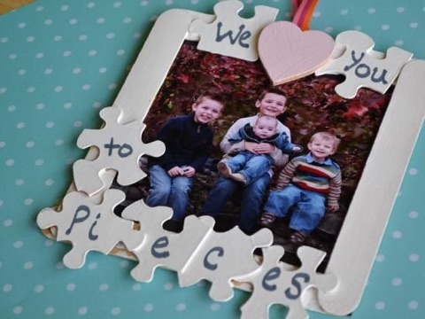 I LOVE YOU TO PIECES PICTURE FRAME