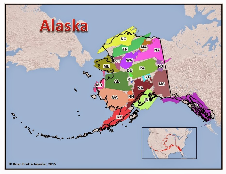 Brian Bs Climate Blog Alaska Size Comparison Maps - Alaska usa map