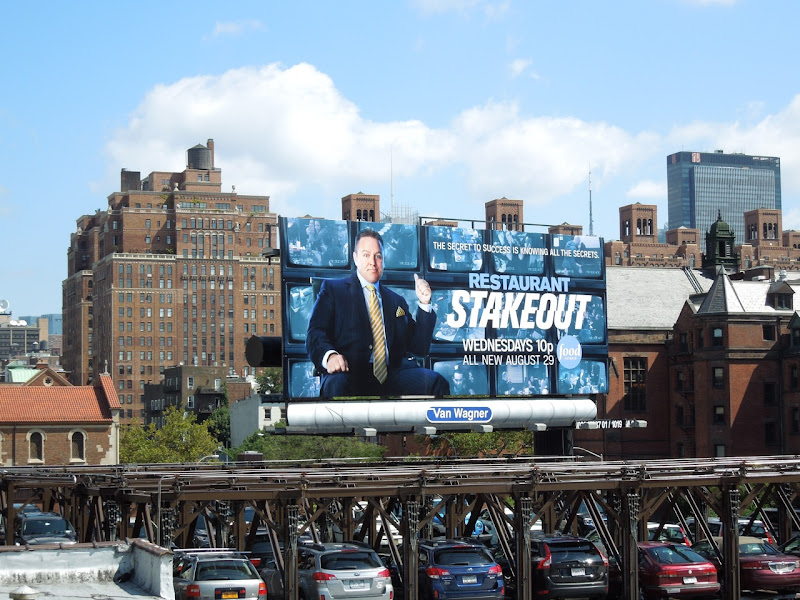 Restaurant Stakeout billboard High Line NYC
