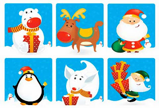 desain vektor natal, download vector pack, desain natal, download vector gratis, download desain natal, karakter natal lucu, vector santa claus, vector bear,