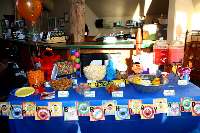 Sesame Street Birthday Party Decorations