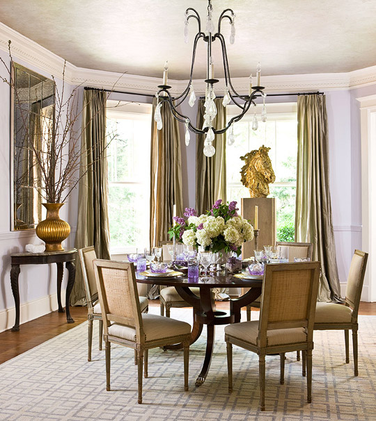New home interior design showhouse color pastels for Pastel dining room ideas