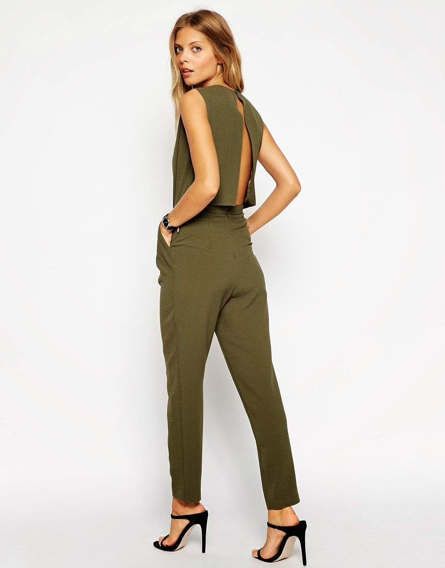 green open back jumpsuit,