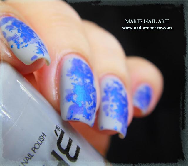 Nail Art Double Texture de Bleu5
