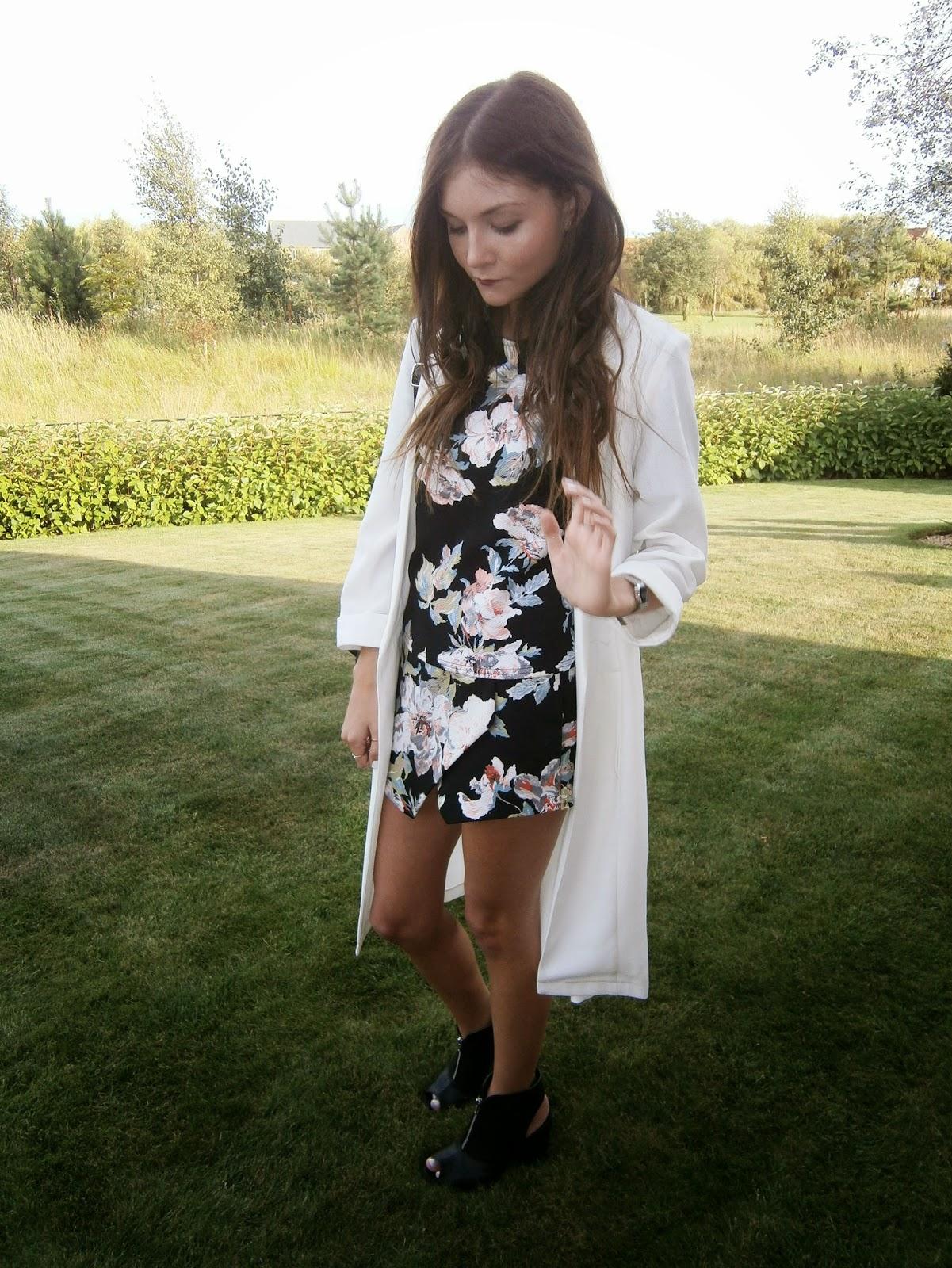 topshop long white blazer street style outfit fashion blogger