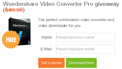 Wondershare Converter Pro Giveaway