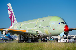 Airbus is making good progress with the production of Qatar Airways' first A380 [Photo: Qatar Airways]