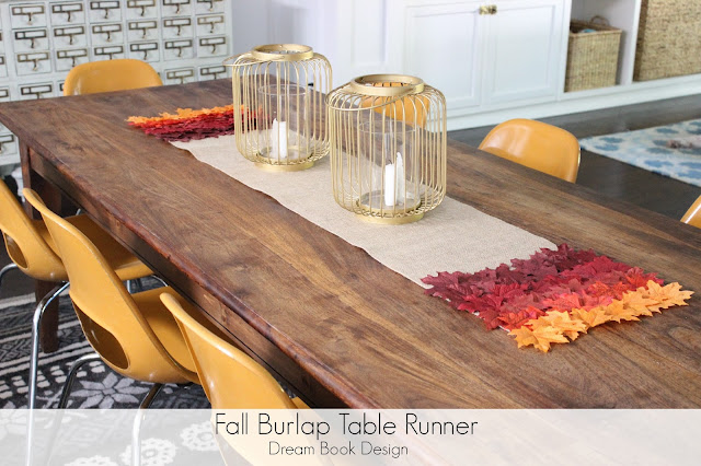 Charmant I Am Thinking Of, Dreaming Of, Planning For, Fall. A Craft That I Dreamed  Up A Few Weeks Ago Was A Fun Ombre Leaf Fall Burlap Table Runner ...