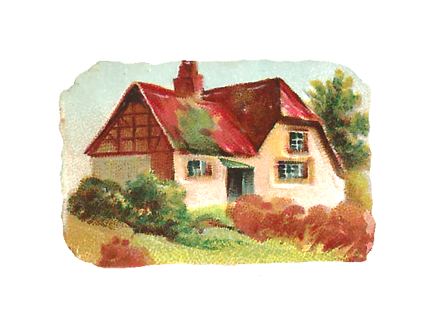 This Is A Sweet Digital House Image Of Little Country Cottage With Red Roof I Created Piece Clip Art From Tiny Victorian Scrap