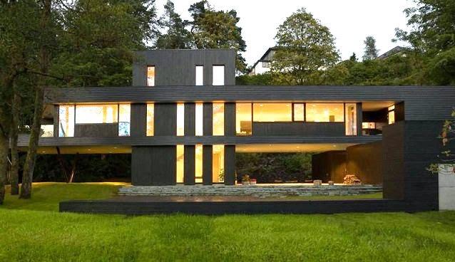 Casa de un arquitecto en bergen noruega arquitexs for Estilos de arquitectura contemporanea