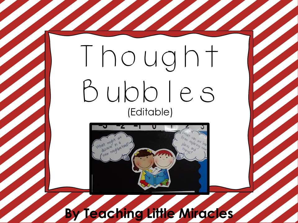 Editable Thought Bubbles for Essential Questions