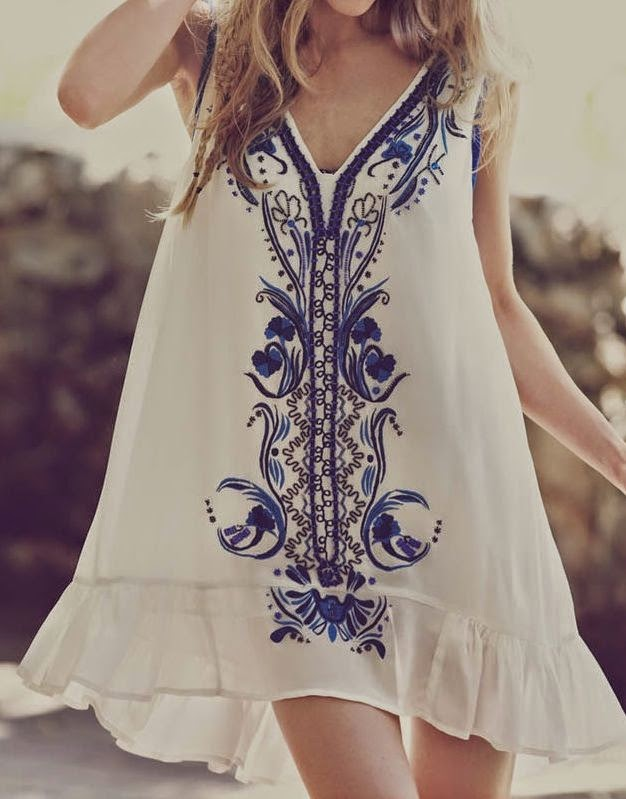 Embroidered tunics.