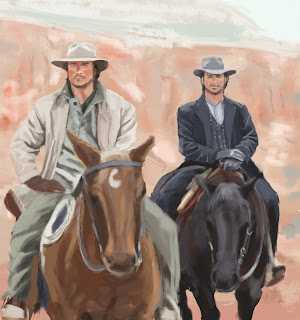 3:10 to Yuma movie still Photoshop study