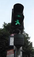 Berlin traffic lights man
