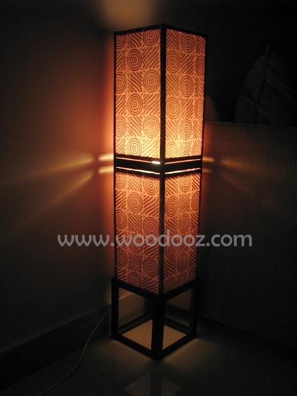 Lamp shade when lit