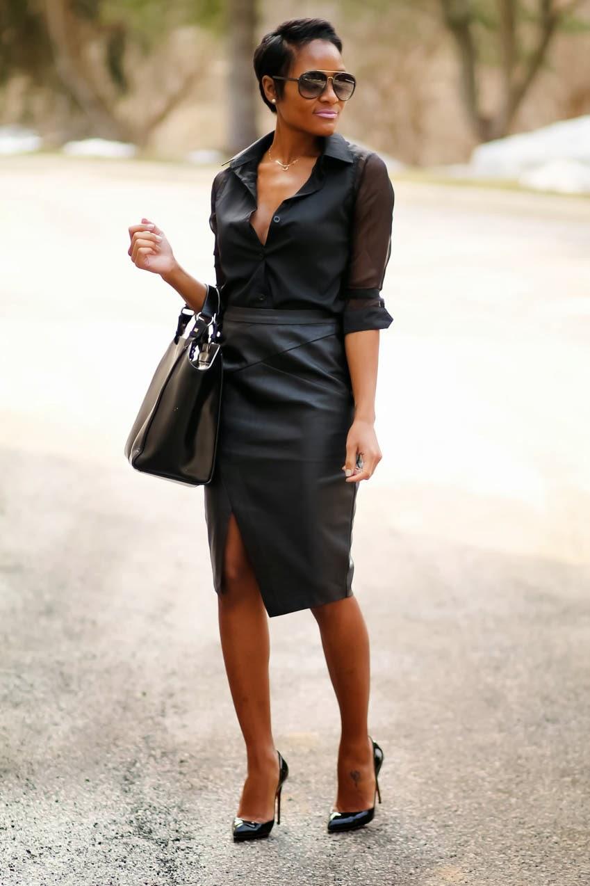 black-leather-skirt