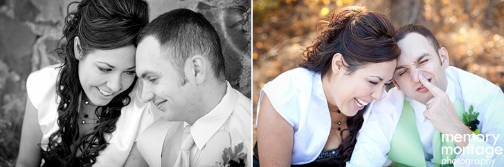 halloween wedding photo black green